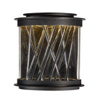 Bedazzle LED 11 inch Texture Ebony and Polished Chrome Outdoor Wall Lantern