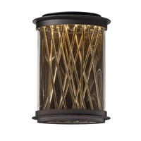 Maxim 53497CLGBZFG Bedazzle LED 14 inch Galaxy Bronze and French Gold Outdoor Wall Lantern
