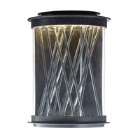 Bedazzle LED 14 inch Texture Ebony and Polished Chrome Outdoor Wall Lantern
