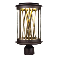 Maxim Lighting Bedazzle 1 Light Post Mount in Galaxy Bronze and French Gold 53499CLGBZFG