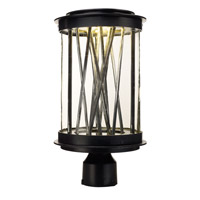 Maxim Lighting Bedazzle 1 Light Post Mount in Texture Ebony and Polished Chrome 53499CLTEPC