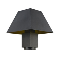 Pavilion LED 12 inch Black Post Lantern