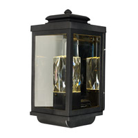 Maxim Lighting Mandeville 2 Light Outdoor Wall Lantern in Galaxy Black 53524CLGBK
