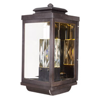 Maxim Lighting Mandeville 2 Light Outdoor Wall Lantern in Galaxy Bronze 53524CLGBZ