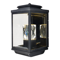 Maxim Lighting Mandeville 2 Light Outdoor Wall Lantern in Galaxy Black 53526CLGBK