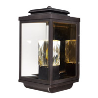 Maxim Lighting Mandeville 2 Light Outdoor Wall Lantern in Galaxy Bronze 53526CLGBZ