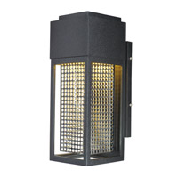 Townhouse LED 12 inch Galaxy Black and Stainless Steel Outdoor Wall Lantern