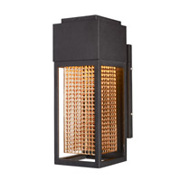 Townhouse LED 12 inch Galaxy Bronze and Rose Gold Outdoor Wall Lantern