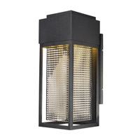 Townhouse LED 17 inch Galaxy Black and Stainless Steel Outdoor Wall Lantern