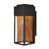 Townhouse LED 17 inch Galaxy Bronze and Rose Gold Outdoor Wall Lantern