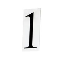Maxim 53611WT Address White Address Number Tile