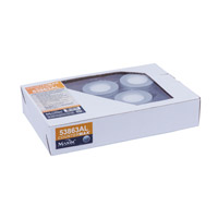 CounterMax MX-LD-KIT LED 3 inch Brushed Aluminum Under Cabinet Lighting