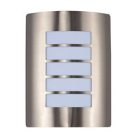 View Energy Efficient 1 Light 8 inch Stainless Steel Wall Sconce Wall Light
