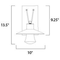 Maxim 54362CLAL Civic LED 14 inch Brushed Aluminum Outdoor Wall Sconce