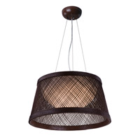 Bahama LED 16 inch Chocolate Single Pendant Ceiling Light