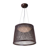 Bahama 1 Light 24 inch Chocolate Single Pendant Ceiling Light