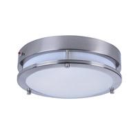 Maxim 55546WTSN Linear LED LED 12 inch Satin Nickel Flush Mount Ceiling Light
