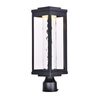 Maxim 55900WGBK Salon LED 20 inch Black Outdoor Pole/Post Mount