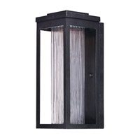 Salon LED 15 inch Black Outdoor Wall Sconce