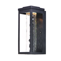 Maxim 55904WGBK Salon LED 15 inch Black Outdoor Wall Sconce