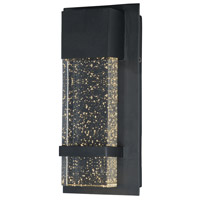Cascade LED 14 inch Black Outdoor Wall Sconce