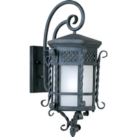 Maxim 56325FSCF Scottsdale LED E26 LED 28 inch Country Forge Outdoor Wall Mount