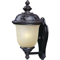 Maxim 56522MOOB Carriage House LED E26 LED 16 inch Oriental Bronze Outdoor Wall Mount