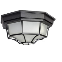 Maxim 67920BK Crown Hill LED E26 LED 12 inch Black Outdoor Flush Mount