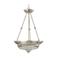 Maxim Lighting Signature 3 Light Pendant in Satin Nickel 5824CLSN