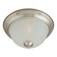 Signature 1 Light 12 inch Satin Nickel Flush Mount Ceiling Light
