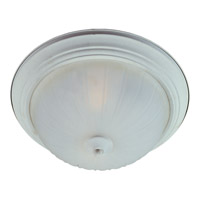 Signature 1 Light 12 inch Textured White Flush Mount Ceiling Light