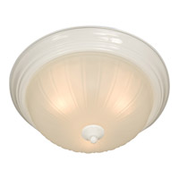 Signature 1 Light 12 inch White Flush Mount Ceiling Light