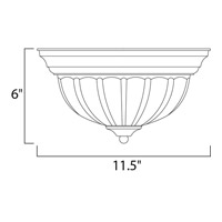 Maxim 5830FTWT Signature 1 Light 12 inch White Flush Mount Ceiling Light alternative photo thumbnail