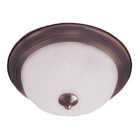 Maxim Lighting Signature 2 Light Flush Mount in Oil Rubbed Bronze 5831FTOI