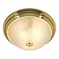 Essentials - 583x 2 Light 14 inch Polished Brass Flush Mount Ceiling Light in 60