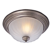 Maxim Lighting Signature 2 Light Flush Mount in Pewter 5831FTPE
