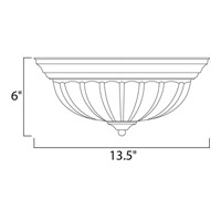 Maxim Lighting Signature 2 Light Flush Mount in Oil Rubbed Bronze 5831FTOI alternative photo thumbnail