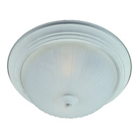 Signature 3 Light 16 inch Textured White Flush Mount Ceiling Light