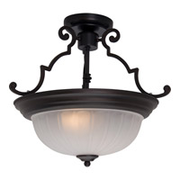 Signature 2 Light 15 inch Oil Rubbed Bronze Semi Flush Mount Ceiling Light