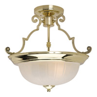 Maxim Lighting Signature 2 Light Semi Flush Mount in Polished Brass 5833FTPB