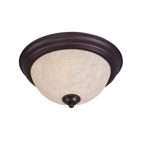 Essentials - 584x 1 Light 12 inch Black Flush Mount Ceiling Light