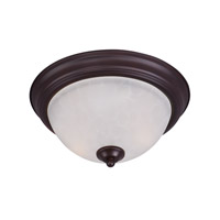 Essentials 1 Light 12 inch Oil Rubbed Bronze Flush Mount Ceiling Light in Ice