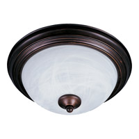 Maxim 5840MROI Essentials - 584x 1 Light 12 inch Oil Rubbed Bronze Flush Mount Ceiling Light in Marble