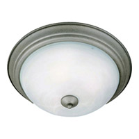Maxim Lighting Signature 1 Light Flush Mount in Pewter 5840MRPE