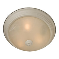 Signature 1 Light 12 inch Textured White Flush Mount Ceiling Light in Marble