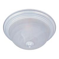 Maxim 5840MRWT Essentials - 584x 1 Light 12 inch White Flush Mount Ceiling Light in Marble