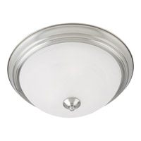 Essentials 2 Light 14 inch Satin Nickel Flush Mount Ceiling Light