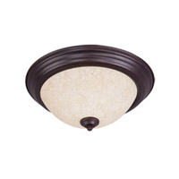 Maxim Lighting Signature 2 Light Flush Mount in Oil Rubbed Bronze 5841FIOI