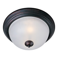Maxim 5841FTOI Essentials - 584x 2 Light 14 inch Oil Rubbed Bronze Flush Mount Ceiling Light in Frosted, 60