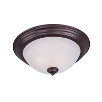 Essentials 2 Light 14 inch Oil Rubbed Bronze Flush Mount Ceiling Light in Ice, 60